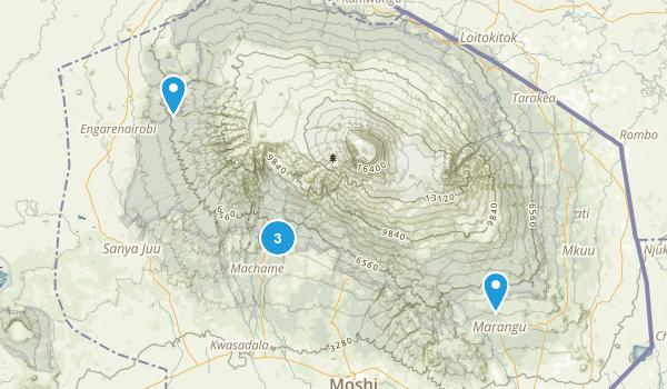 Kilimanjaro, Tanzania Camping Map