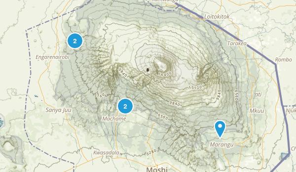 Kilimanjaro, Tanzania National Parks Map