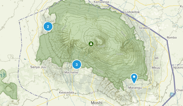 Kilimanjaro, Tanzania Nature Trips Map