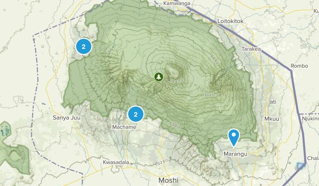 Kilimanjaro, Tanzania Parks Map