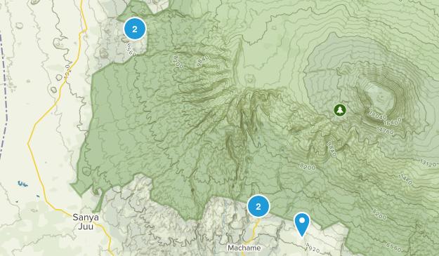 Kilimanjaro, Tanzania Walking Map