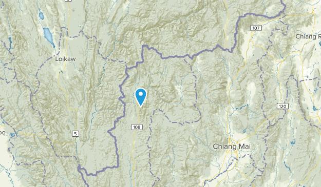 Mae Hong Son, Thailand Parks Map