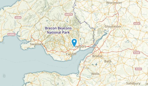Caerphilly, United Kingdom Parks Map