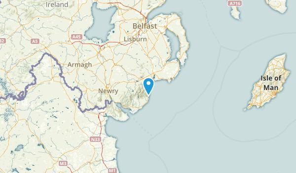 Down, United Kingdom Parks Map