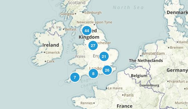 England, United Kingdom Birding Map