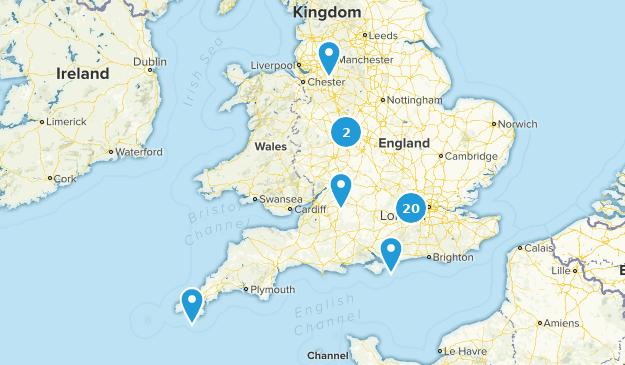 England, United Kingdom City Walk Map
