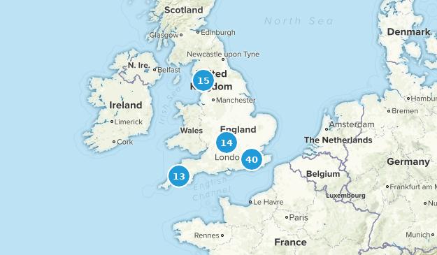 England, United Kingdom Dog Friendly Map