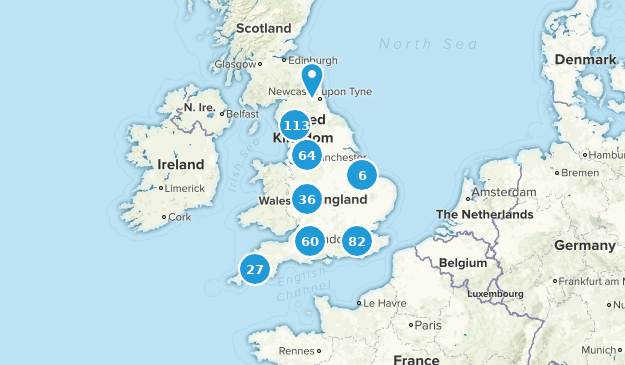 England, United Kingdom Hiking Map