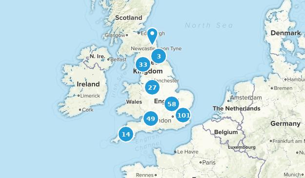 England, United Kingdom Kid Friendly Map