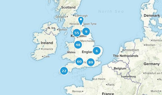 England, United Kingdom Nature Trips Map