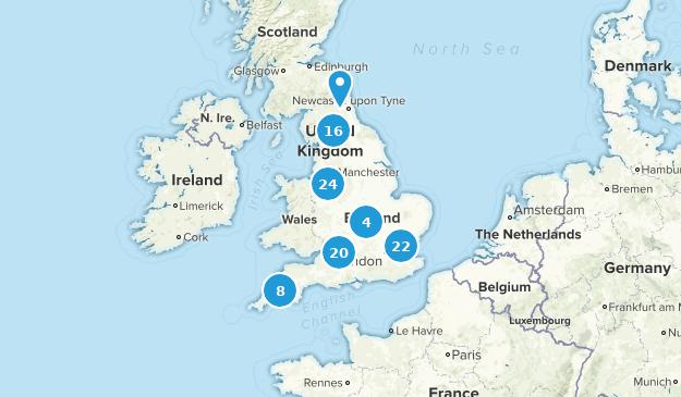 England, United Kingdom River Map