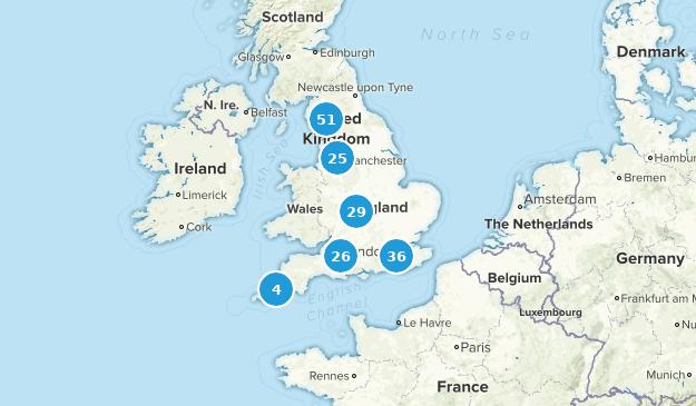 England, United Kingdom Trail Running Map