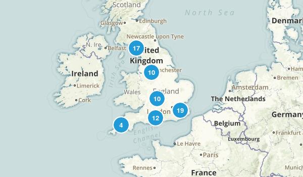 England, United Kingdom Wildlife Map