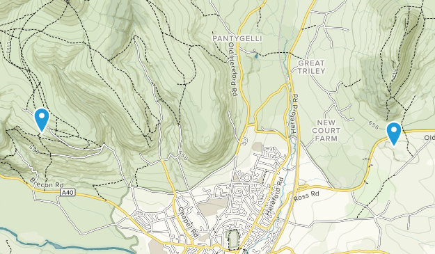 Monmouthshire, United Kingdom Parks Map