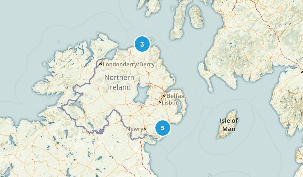 Northern Ireland, United Kingdom Hiking Map