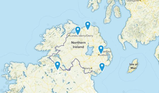 Northern Ireland, United Kingdom Trail Running Map