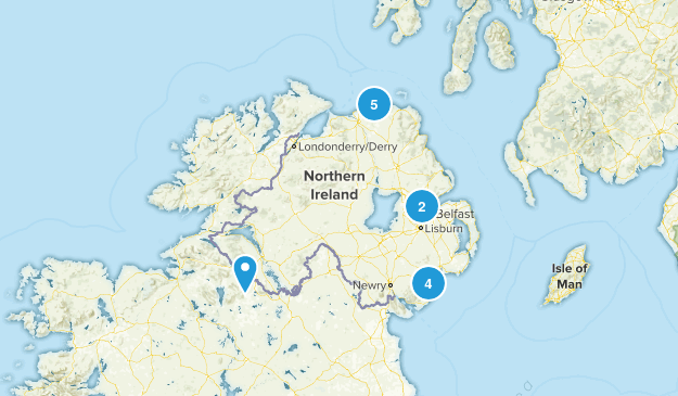 Northern Ireland, United Kingdom Views Map