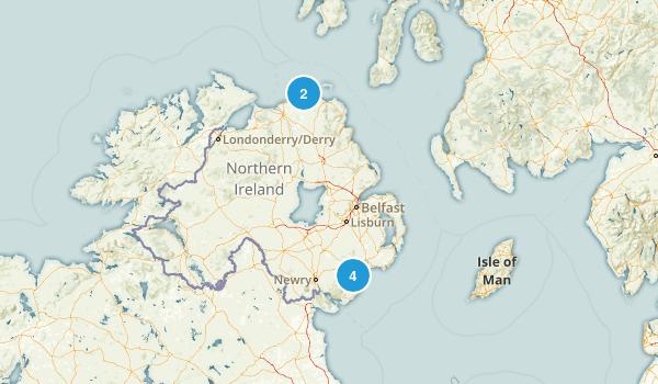 Northern Ireland, United Kingdom Walking Map