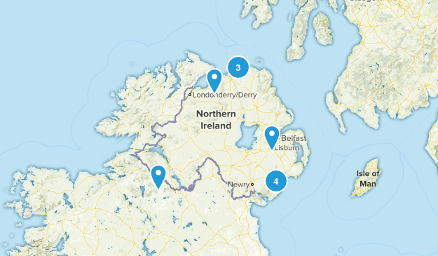Northern Ireland, United Kingdom Walking Map