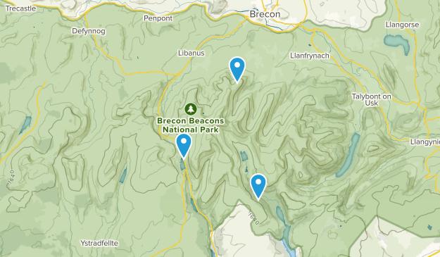 Powys, United Kingdom Parks Map