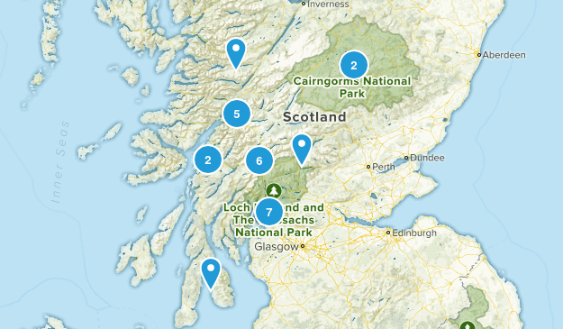 Scotland, United Kingdom Backpacking Map