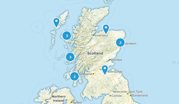 Scotland, United Kingdom Beach Map