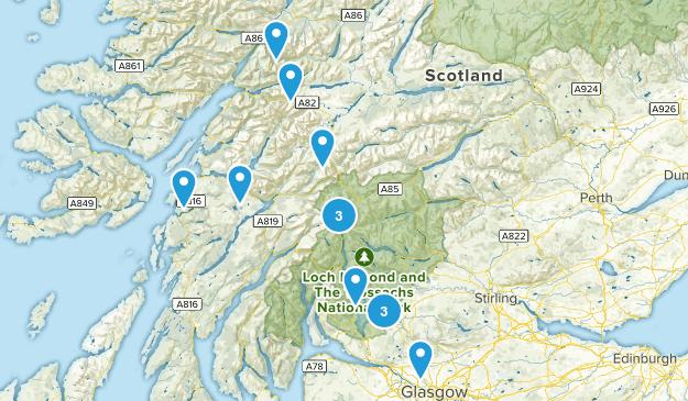 Scotland, United Kingdom Camping Map