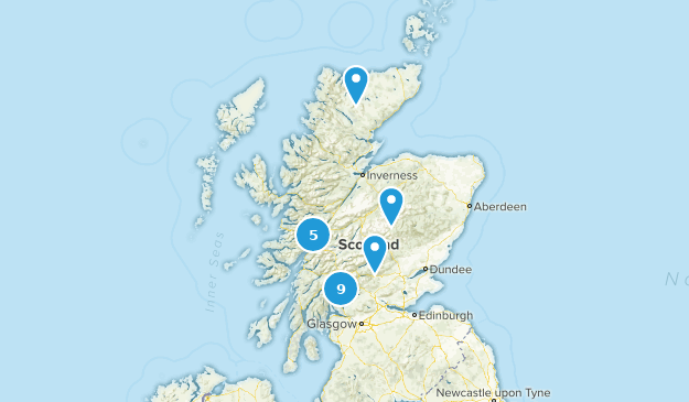 Scotland, United Kingdom Camping Map