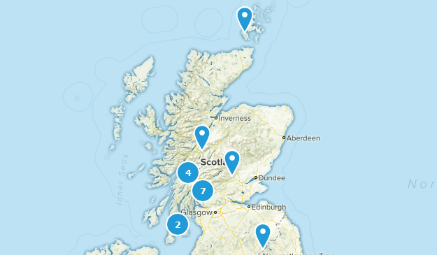 Scotland, United Kingdom Dogs On Leash Map
