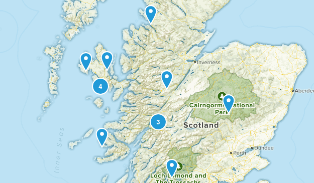 Scotland, United Kingdom No Dogs Map