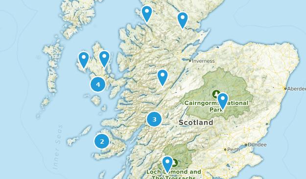 Scotland, United Kingdom No Dogs Map