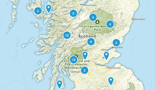 Scotland, United Kingdom Forest Map