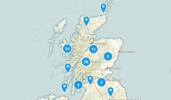Scotland, United Kingdom Hiking Map