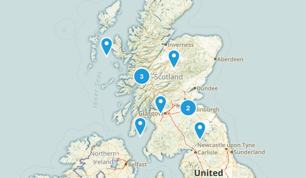 Scotland, United Kingdom Historic Site Map