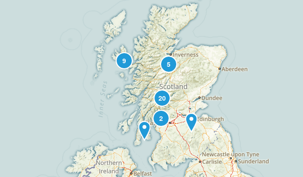 Scotland, United Kingdom Lake Map