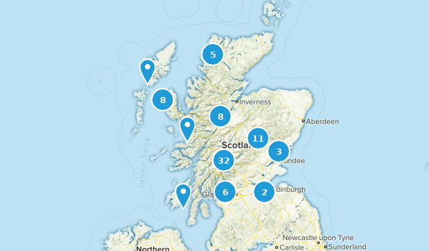 Scotland, United Kingdom Lake Map