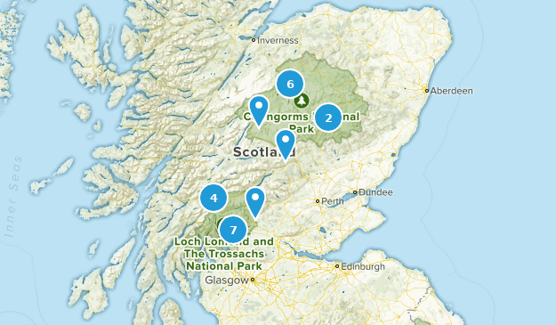 Scotland, United Kingdom National Parks Map