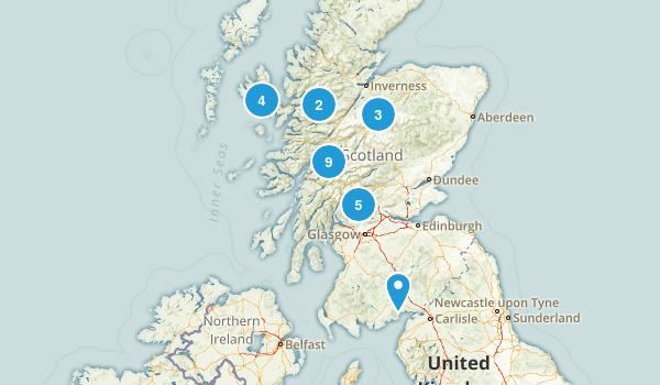 Scotland, United Kingdom River Map