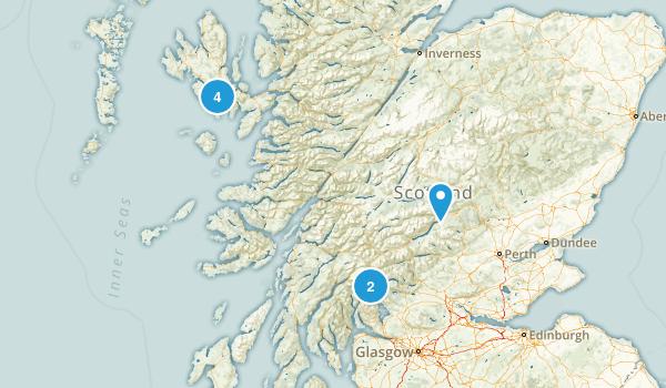 Scotland, United Kingdom Rock Climbing Map