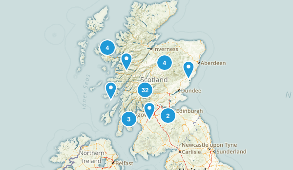 Scotland, United Kingdom Trail Running Map