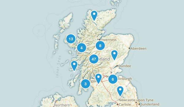 Scotland, United Kingdom Walking Map