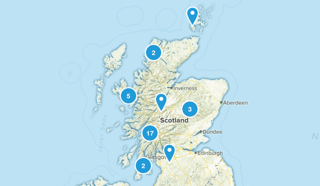 Scotland, United Kingdom Wild Flowers Map