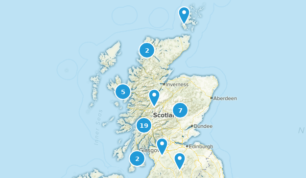 Scotland, United Kingdom Wild Flowers Map