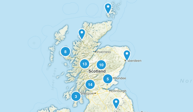 Scotland, United Kingdom Wildlife Map