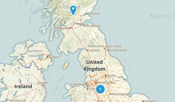 Staffordshire, United Kingdom River Map