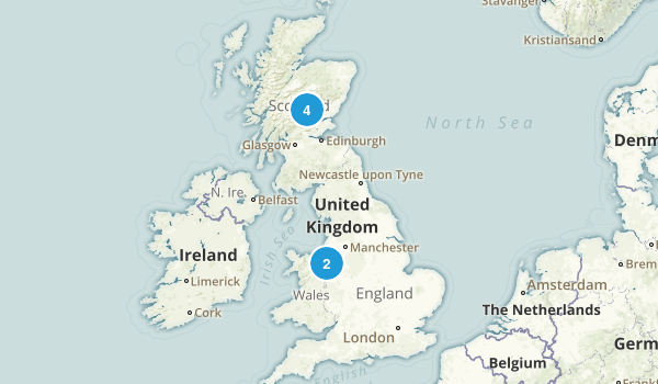 Staffordshire, United Kingdom Trail Running Map