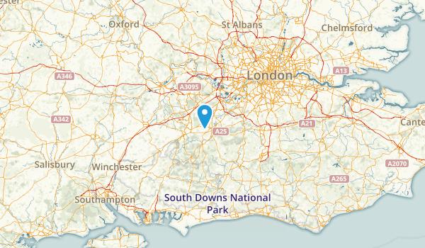 Surrey, United Kingdom Parks Map
