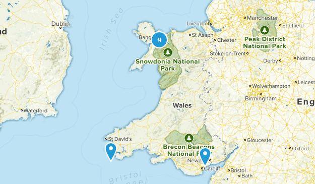 Wales, United Kingdom Birding Map