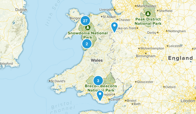 Wales, United Kingdom Hiking Map
