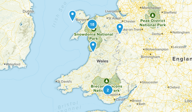 Wales, United Kingdom Nature Trips Map